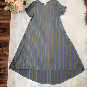 Lularoe carly dress| Grey and Gold 👑